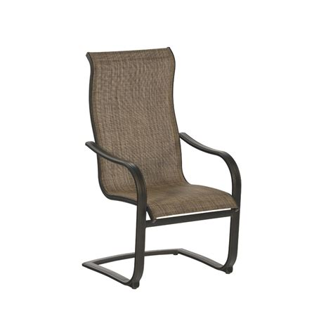 Sling Patio Furniture by Allen Roth Set Of 6 Tenbrook Sling Seat Aluminum Patio