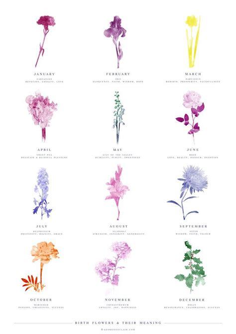 monthly birth flowers birth flower tattoos birth