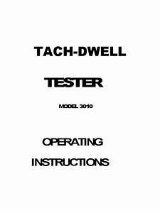 Tach Dwell Tester Instructions