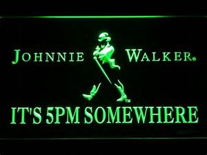 Johnnie Walker It s 5pm Somewhere LED Neon Sign