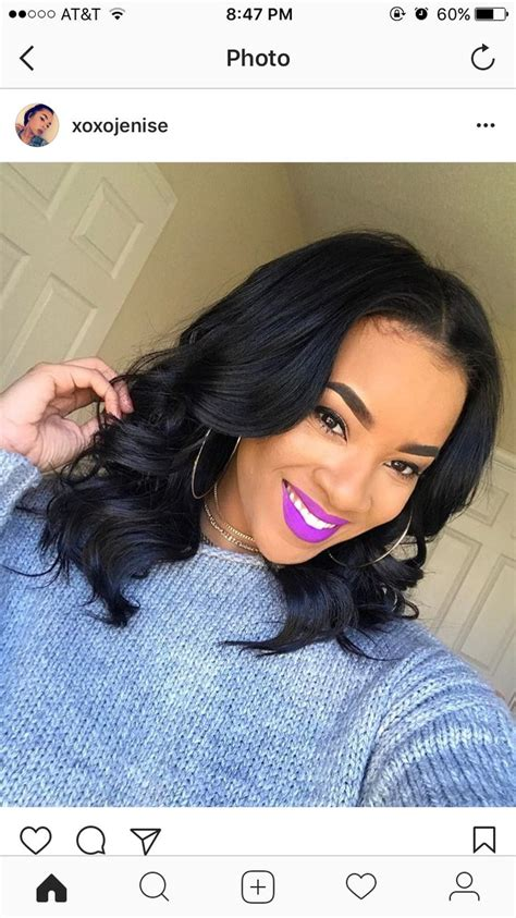 Black Hairstyles Sew Ins Pictures by Best 25 Middle Part Bob Ideas On Middle Part
