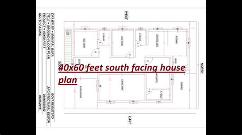 feet south facing house plan  bhk  parking