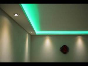 Led Leiste Decke : stuckleisten lichtprofile f r indirekte led beleuchtung mit spots led b nder youtube ~ Sanjose-hotels-ca.com Haus und Dekorationen