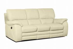 canape 3 places relaxation electrique en cuir peters With canapé 3 places relax électrique en cuir de vachette