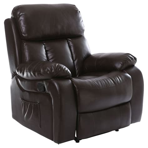 heated recliner chester heated leather massage recliner chair sofa lounge gaming home armchair ebay