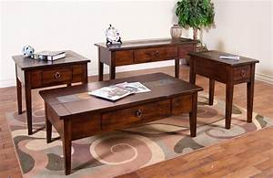 sunny designs santa fe 3176dc c coffee table with slate With console and coffee table set