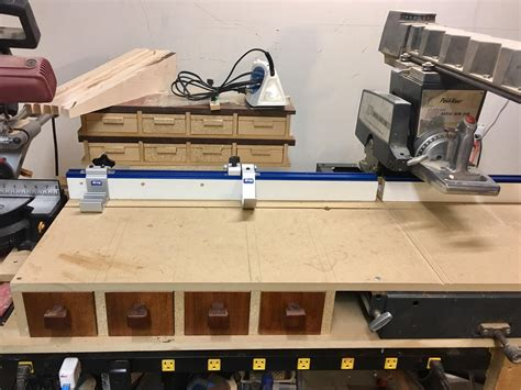 upgraded  radial arm   miter  station fence