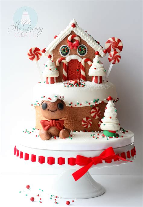 making  gingerbread house cake mcgreevy cakes