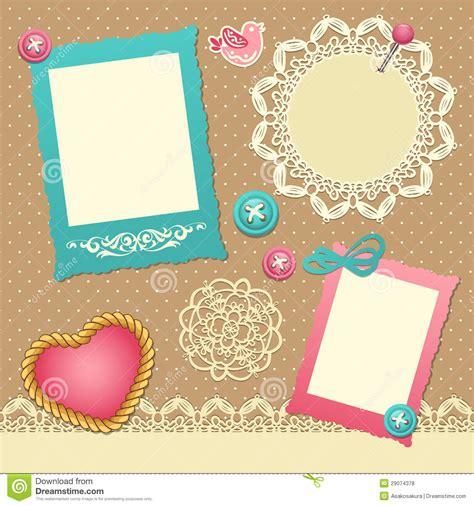 scrapbook template stock vector illustration  pink