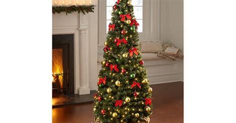 kohls christmas trees sharper image pop up tree