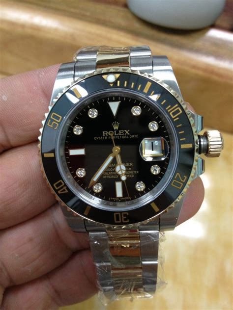 rolex submariner two tone steel yellow gold blue big news noob factory released two tone rolex submariner