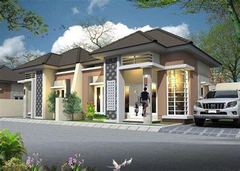 model rumah minimalis sederhana  lantai tampak depan