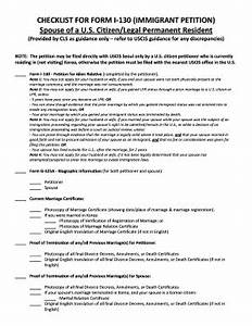 i 130 checklist fill online printable fillable blank With document checklist uscis