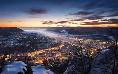 Winter Snow Europe Lights Germany Landscape Sunset