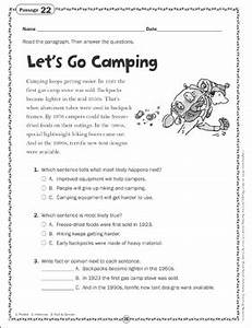 Essay Organizer Let 39 S Go Camping Close Reading Passage Printable Skills