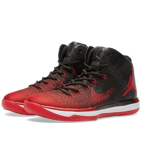 Nike Air Jordan Xxxi Black University Red And White