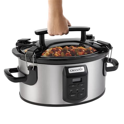 Cooking In Crock Pot Crock Pot 174 Single Cook Carry 174 6 Quart Oval Cooker