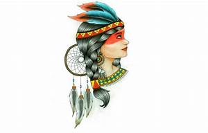 Wallpaper indian, feathers, girl, Indian, Dreamcatcher ...