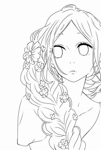 Anime Coloring Manga Lineart Deviantart Transparent Sketch
