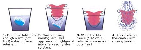 instructions    retainer brite tablets