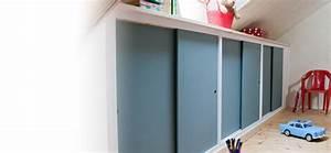 Placard Sous Rampant : r ussir la fabrication d 39 un placard sous rampant ~ Melissatoandfro.com Idées de Décoration