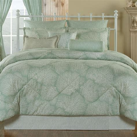 antigua aqua mist coastal comforter bedding