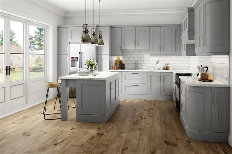 about light grey kitchens on gray green kitchen with
