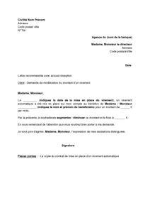 modele resiliation virement permanent document