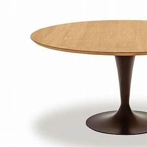 Table ronde design plateau bois Flûte Sovet® 4 Pieds : tables, chaises et tabourets