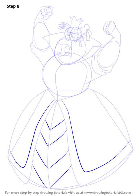 learn   draw queen  hearts  alice  wonderland