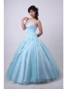 our real completed dresses show light blue quinceañera dress sweetheart beaded dress prlog - Ballkleid Designer