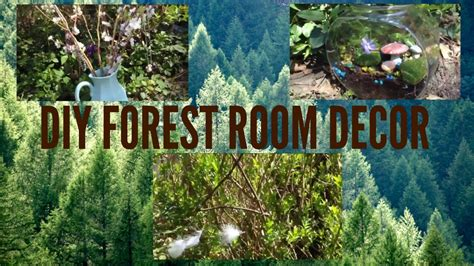themed living room diy forest room decor