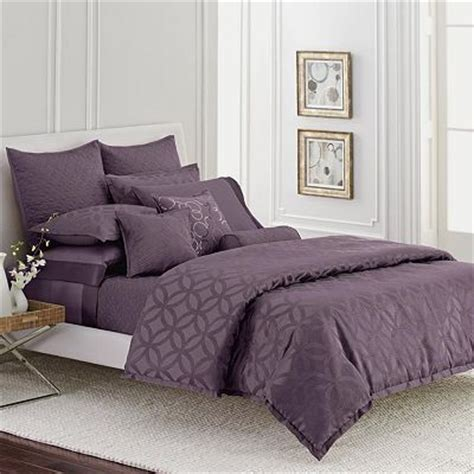 simply vera wang plum purple interlocked queen comforter