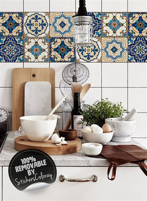 Badezimmer Fliesen Pimpen by Damask Tile Stickers Pack Of 24 Ethnic