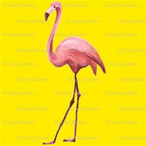 Flamingo Park Bright Yellow wallpaper shopcabin