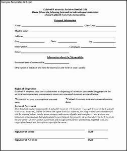 gift deed form texas gift ftempo With deed of gift template australia