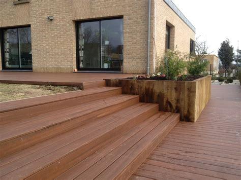 terrasse exterieure en bois terrasses en bois composite th leman