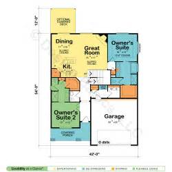 Harmonious Two Master Suites House Plans by House Plans With Two Owner Suites Design Basics