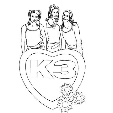 K3 Jurkje Kleurplaat by K3 Kleurplaten Kleurplatenpagina Nl Boordevol Coole