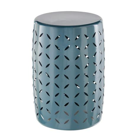 Garden Stool by Hton Bay Metal Garden Stool With Geo Pattern In