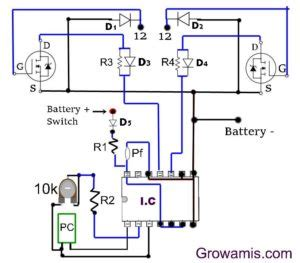Watt Inverter Circuit Diagram Using Mosfet Grow Amis