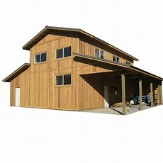 44 Ft X 40 Ft X 18 Ft Wood Garage Kit Without Floor