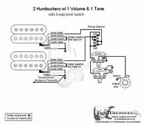 2 Humbuckers  3 1 Volume  1 Tone