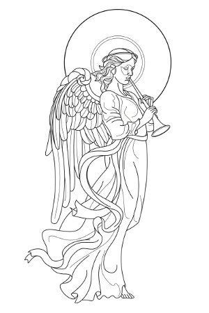 holy angel tattoo designs - Google Search | Angel drawing, Angel drawing easy, Angel coloring pages