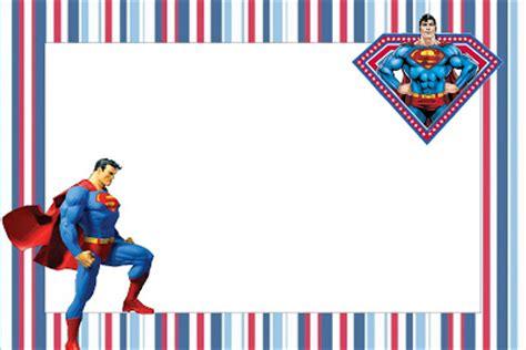 superman  printable invitations   fiesta