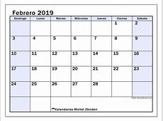 Calendarios febrero 2019 DS Michel Zbinden es
