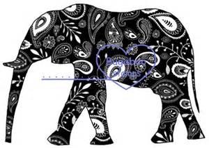 Paisley Elephant Silhouette