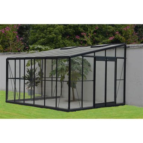serre de jardin adossee au mur serre adoss 233 e en verre tremp 233 solarium 11 85 m 178 grise ch 226 let jardin plantes et jardins