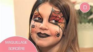 Maquillage D Halloween Pour Fille : maquillage de sorci re atelier maquillage youtube ~ Melissatoandfro.com Idées de Décoration
