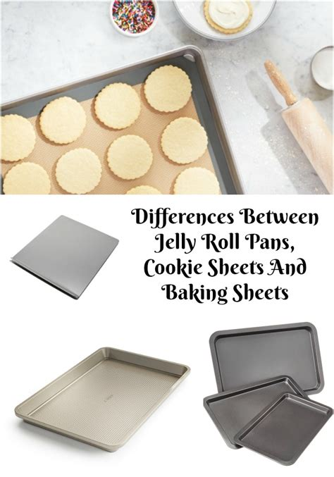 differences between jelly roll pans cookie sheets and